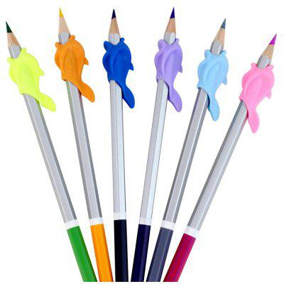 Dolphin Design Colored Silicone Mini Pencil Grip 20pcs / set