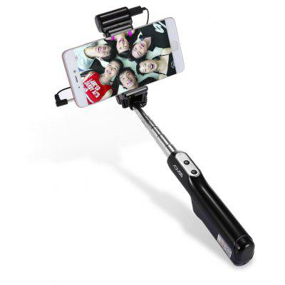 ADYSS A6 Wire Control Selfie Stick Shutter Monopod LED Flash
