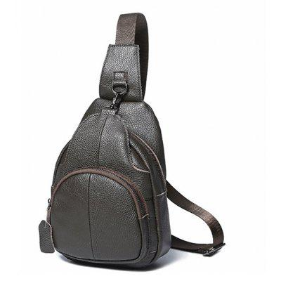 Men Leisure Leather Shoulder Bag