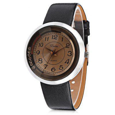Popular Quartz Watch with Leather Band for Women