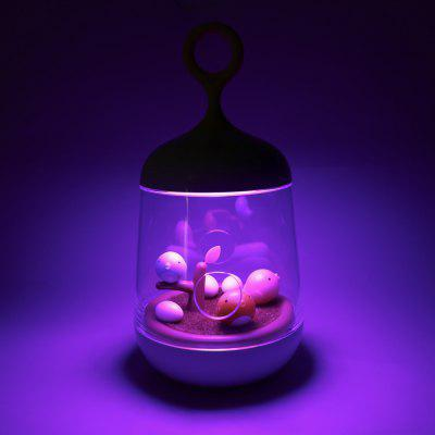 Micro-landscape Color Changing Music Box Night Light