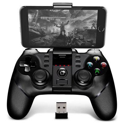 Gearbest Pega 9076 2.4G Wireless Bluetooth Gamepad with Bracket - BLACK