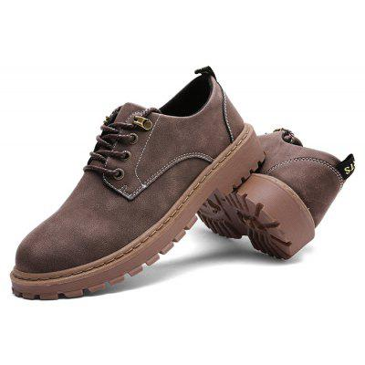 Buy Male Solid Color Soft Retro Stitching Casual Leather Shoes, BROWN, 41, Bags & Shoes, Men's Shoes, Casual Shoes for $23.49 in GearBest store