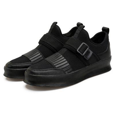 Male Thick Soled Buckle Casual Skateboarding Shoes