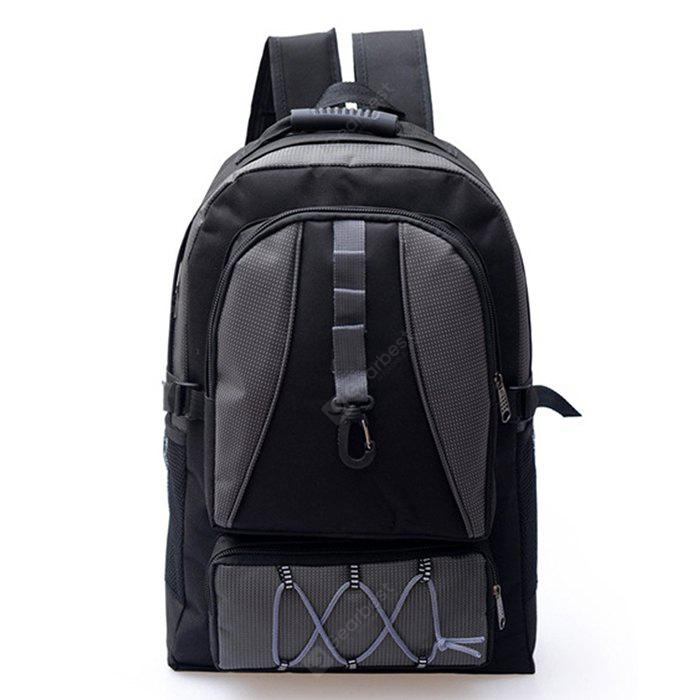 Men Multifunctional Splicing Nylon Sports Backpack