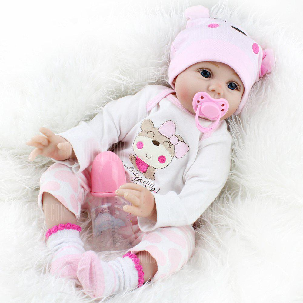 NPK Adorable Simulation Lifelike Newborn Silicone Baby Doll - COLORMIX