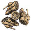 Retro Tank Fidget Tri-spinner with R188 Bearing - GOLDEN