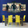 5PCS YSDAFEN Movie Scene Framed Decorative Canvas Print - COLORMIX