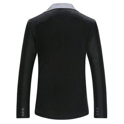Fashion Slim Fit One Button Blazer JacketMens Blazers<br>Fashion Slim Fit One Button Blazer Jacket<br><br>Material: Cotton, Nylon<br>Package Contents: 1 x Blazer Jacket<br>Package size: 40.00 x 30.00 x 5.00 cm / 15.75 x 11.81 x 1.97 inches<br>Package weight: 0.8500 kg<br>Product weight: 0.8000 kg