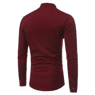 Classic Simple Long Sleeve ShirtMens Shirts<br>Classic Simple Long Sleeve Shirt<br><br>Material: Cotton, Nylon<br>Package Contents: 1 x Shirt<br>Package size: 40.00 x 30.00 x 4.00 cm / 15.75 x 11.81 x 1.57 inches<br>Package weight: 0.4200 kg<br>Product weight: 0.4000 kg