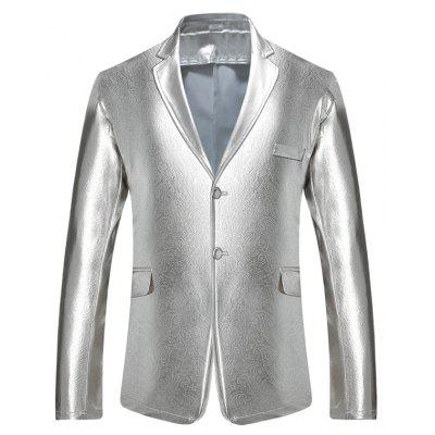 Male Classic Slim Fit Two Buttons Blazer Jacket