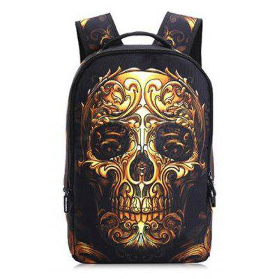 Fashionable Leisure Skull Head School Traveling Backpack