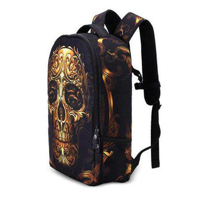Fashionable Leisure Skull Head School Traveling BackpackBackpacks<br>Fashionable Leisure Skull Head School Traveling Backpack<br><br>Capacity: 21 - 30L<br>Features: Laptop Bag<br>For: Casual, Sports, Traveling<br>Gender: Unisex<br>Material: Polyester<br>Package Contents: 1 x Backpack<br>Package size (L x W x H): 50.00 x 35.00 x 5.00 cm / 19.69 x 13.78 x 1.97 inches<br>Package weight: 0.4500 kg<br>Product weight: 0.4000 kg<br>Strap Length: 45 - 80cm<br>Style: Sport, Leisure, Fashion<br>Type: Backpack