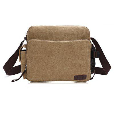 Men Simple Vintage Canvas Shoulder Bag