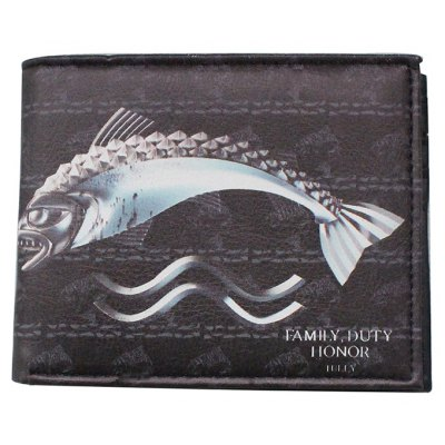 Leisure Male Printed Bifold PU Wallet
