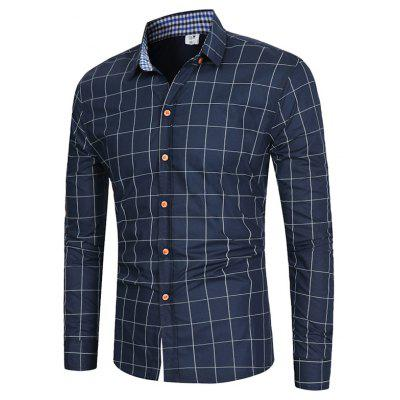 Classic Simple Long Sleeve Checked Shirt