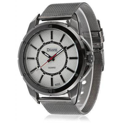 Chic Quartz Watch com Steel Net Band para homens