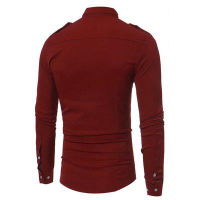 Casual Unique Long Sleeve ShirtMens Shirts<br>Casual Unique Long Sleeve Shirt<br><br>Material: Cotton, Nylon<br>Package Contents: 1 x Shirt<br>Package size: 40.00 x 30.00 x 4.00 cm / 15.75 x 11.81 x 1.57 inches<br>Package weight: 0.4200 kg<br>Product weight: 0.4000 kg