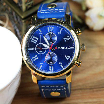 OTSEA 4077 Casual Leather Band Men Quartz WatchMens Watches<br>OTSEA 4077 Casual Leather Band Men Quartz Watch<br><br>Band material: Leather<br>Band size: 25 x 2.2cm<br>Brand: OTSEA<br>Case material: Alloy<br>Clasp type: Pin buckle<br>Dial size: 4.5 x 4.5 x 1cm<br>Display type: Analog<br>Movement type: Quartz watch<br>Package Contents: 1 x Watch, 1 x Box<br>Package size (L x W x H): 28.00 x 8.00 x 3.50 cm / 11.02 x 3.15 x 1.38 inches<br>Package weight: 0.1060 kg<br>Product size (L x W x H): 25.00 x 4.50 x 1.00 cm / 9.84 x 1.77 x 0.39 inches<br>Product weight: 0.0560 kg<br>Shape of the dial: Round<br>Watch mirror: Mineral glass<br>Watch style: Fashion<br>Watches categories: Men