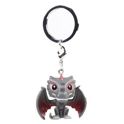 Cartoon Character Image PVC Key Ring