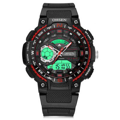Buy RED OHSEN AD1705 Stylish Silicone Band Men Quartz Watch for $16.44 in GearBest store