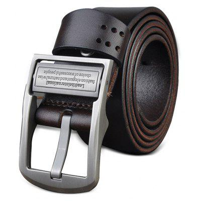 Men Alloy Buckle Genuine Leather Material Waist Belt