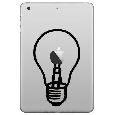 Hat-Prince Creative Light Bulb Pattern Skin Sticker for iPad