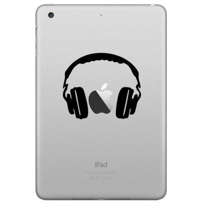 Hat-Prince Creative Headset Pattern Skin Sticker for iPad