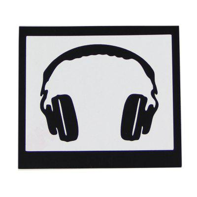 Hat-Prince Creative Headset Pattern Skin Sticker for iPadiPad Cases/Covers<br>Hat-Prince Creative Headset Pattern Skin Sticker for iPad<br><br>Brand: Hat-Prince<br>Color: Black<br>Mainly Compatible with: iPad<br>Material: PVC<br>Package Contents: 1 x Sticker, 1 x Transfer Film, 1 x Chinese / English User Manual<br>Package size (L x W x H): 23.00 x 15.00 x 0.10 cm / 9.06 x 5.91 x 0.04 inches<br>Package weight: 0.0300 kg<br>Product size (L x W x H): 11.00 x 10.00 x 0.05 cm / 4.33 x 3.94 x 0.02 inches<br>Product weight: 0.0020 kg