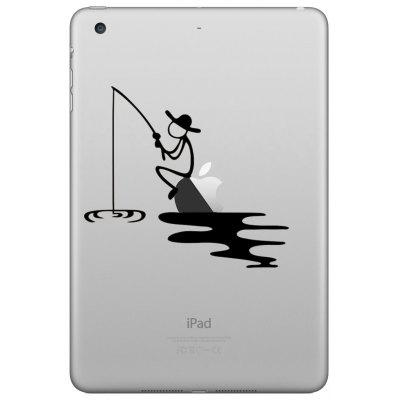 Hat-Prince Creative Fishing Pattern Skin Sticker for iPad