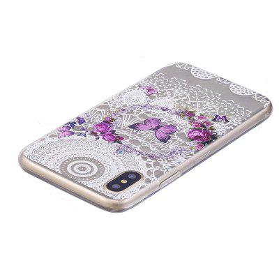 TPU Purple Butterfly Pattern Cover Case for iPhone XiPhone Cases/Covers<br>TPU Purple Butterfly Pattern Cover Case for iPhone X<br><br>Features: Anti-knock, Back Cover, Dirt-resistant<br>Material: TPU<br>Package Contents: 1 x Case<br>Package size (L x W x H): 15.00 x 8.00 x 1.00 cm / 5.91 x 3.15 x 0.39 inches<br>Package weight: 0.0200 kg<br>Product size (L x W x H): 14.80 x 7.80 x 0.80 cm / 5.83 x 3.07 x 0.31 inches<br>Product weight: 0.0180 kg<br>Style: Ultra Slim