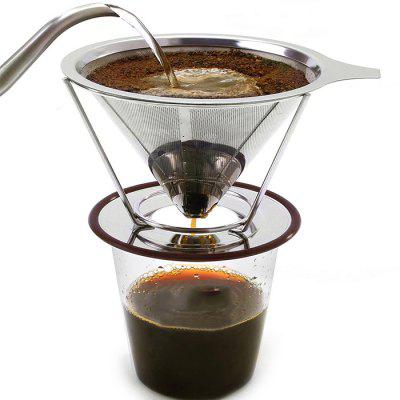 Double Layer Stainless Steel Reusable Coffee Filter