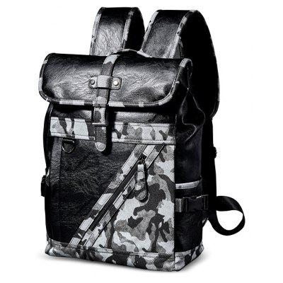 Men Chic Camouflage PU Backpack