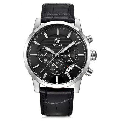 BENYAR 5104M Stylish Casual Steel Band Men Quartz Watch