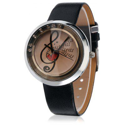 Stylish Quartz Watch with Leather Band for Women