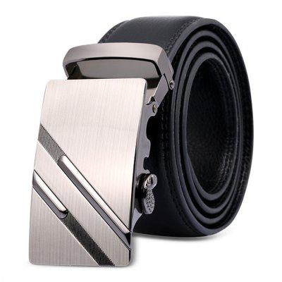 Male Genuine Leather Waist Belt with Alloy Buckle
