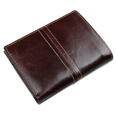 Men Minimalist Vintage Look Leather Bifold Wallet