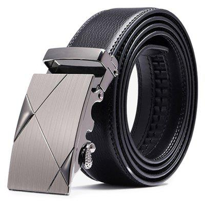 Gearbest Western Style Business Trouser Belt with Alloy Buckle for Men - BLACK