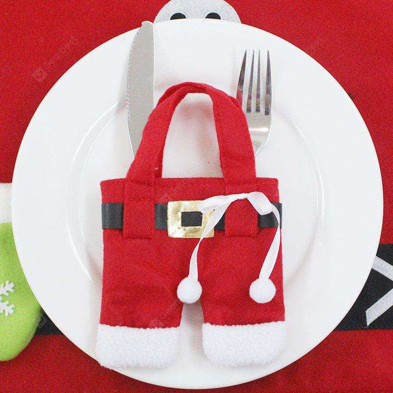 Santa Small Clothes Tableware Knife and Fork Bag
