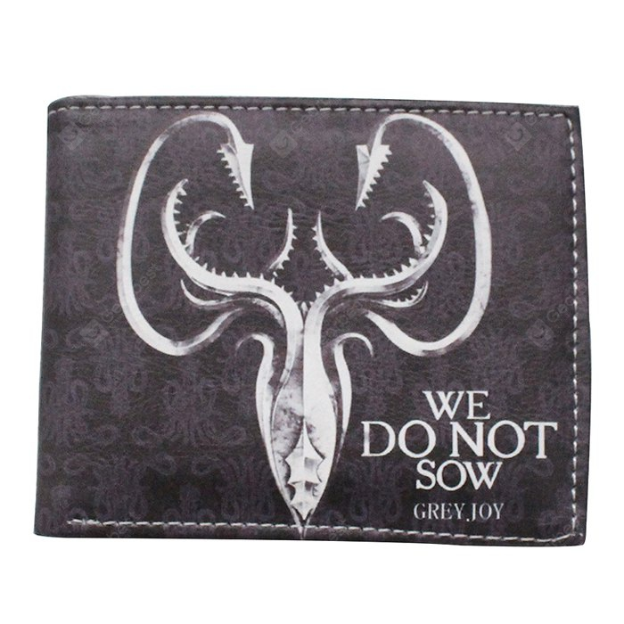 Chic Male Printed Bifold PU Wallet