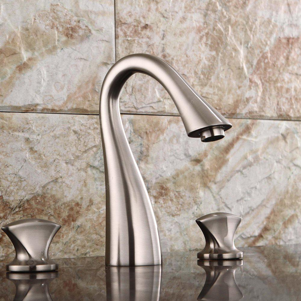 LING HAO Contemporary Nickel-plated Three-hole Faucet