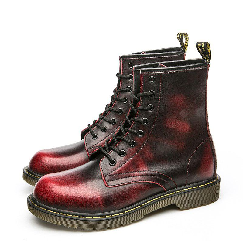 Fashionable Genuine Leather Martin Boots for Men