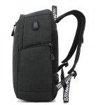 Men Stylish 15 inch Laptop Backpack with USB Port - BLACK