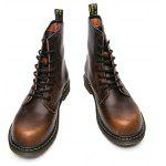 Fashionable Genuine Leather Martin Boots for Men - COFFEE