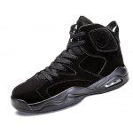 Male Durable Medium Top Sports Shoes - BLACK