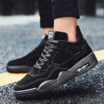 Fashion Casual Lace-up Sports Shoes for Men - BLACK