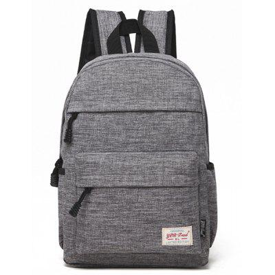 Buy GRAY Men Outdoor Solid Color Nylon Backpack for $19.55 in GearBest store