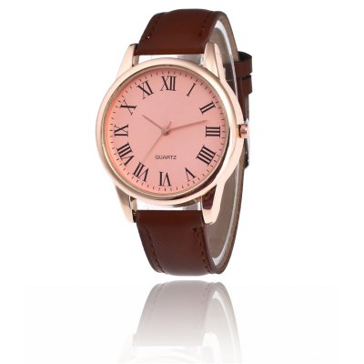 Moda PU Band Men Quartz Watch