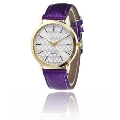 Exquisite PU Band Women Quartz Watch
