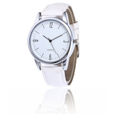 Elegante Simple PU Band Women Quartz Watch